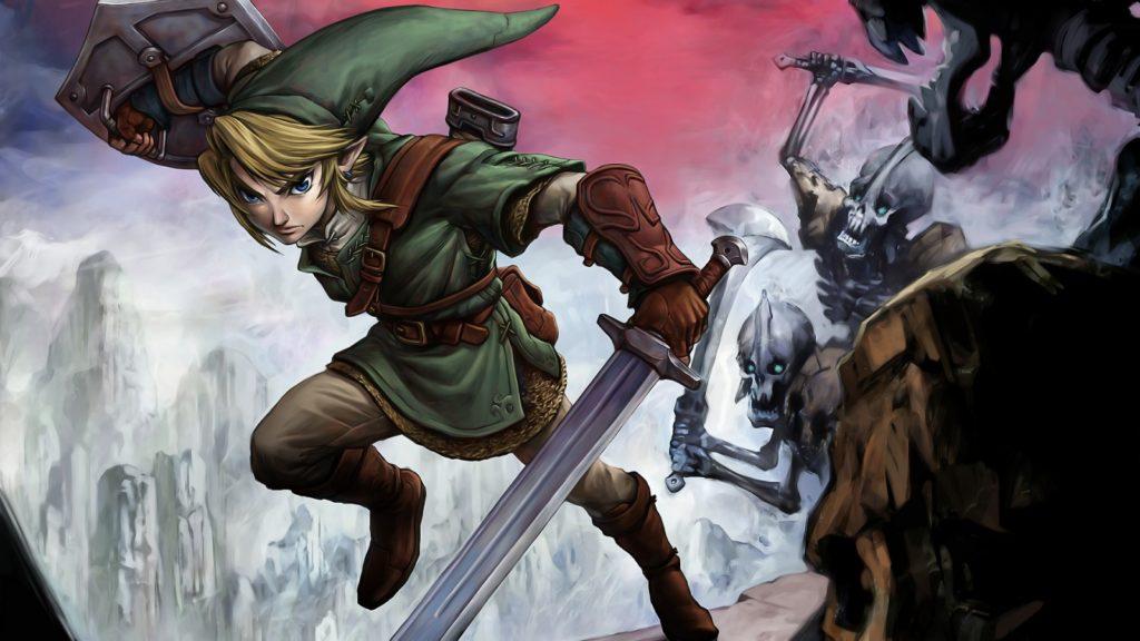 Link combatte contro un gruppo di scheletri