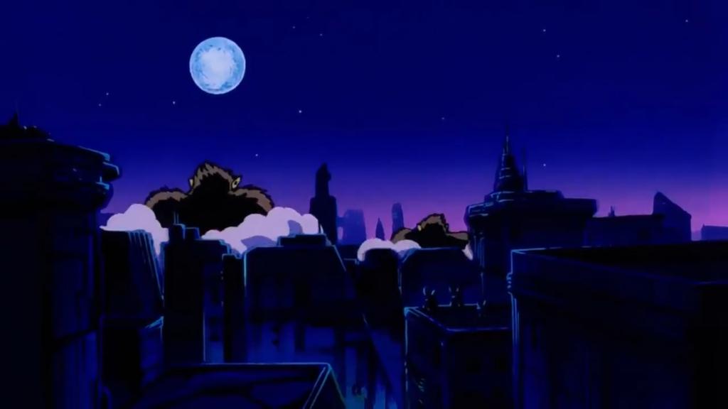 Un gruppo di Oozaru si impegna per invadere e distruggere una città