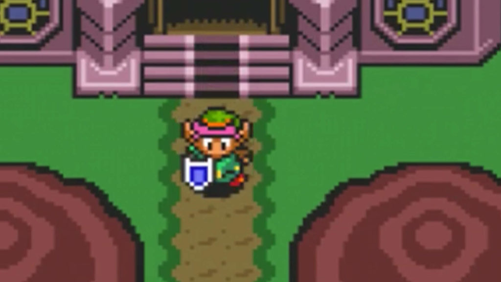 Link esce dal castello di Hyrule in a Link to the Past