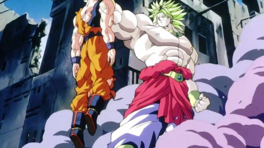 Broly sconfigge Goku