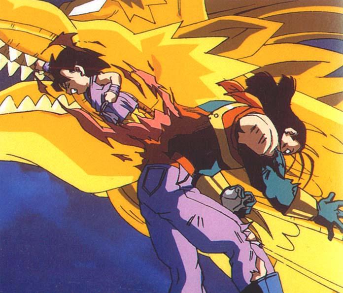 Goku uccide Super C17.