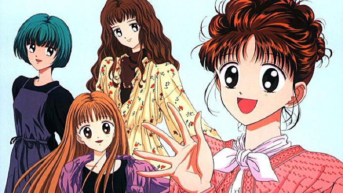 Diversi personaggi femminili dell'anime Marmalade Boy