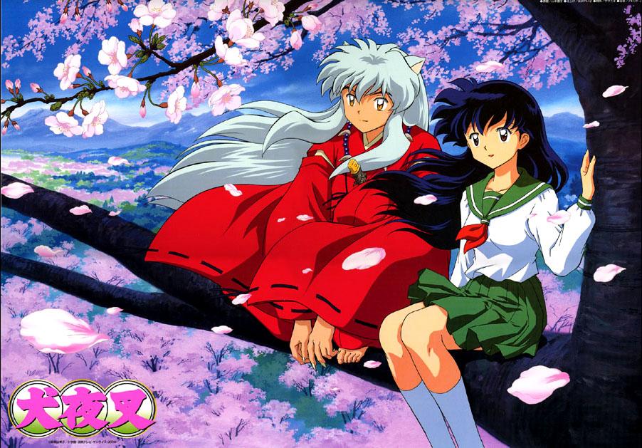 I due protagonisti seduti su un ramo di ciliegio