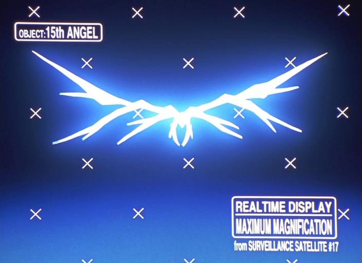 l'angelo visto dallo schermo della NERV