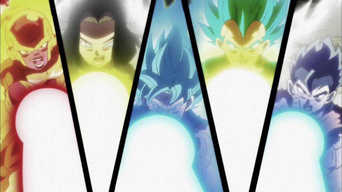 Freezer attacca Anilaza insieme al resto del Team universo 7.