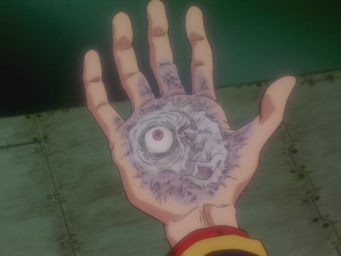 Adam fuso con la mano di Gendo Hikari