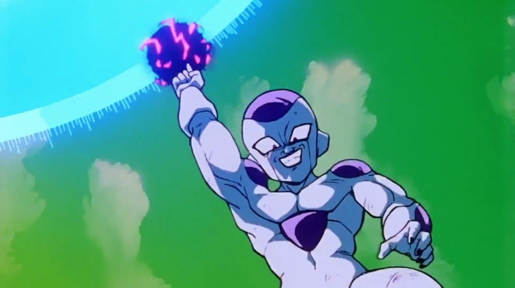 Freezer carica la sua Death Ball.