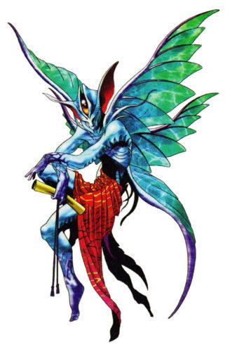 Design di Sraosha su Devil Summoner