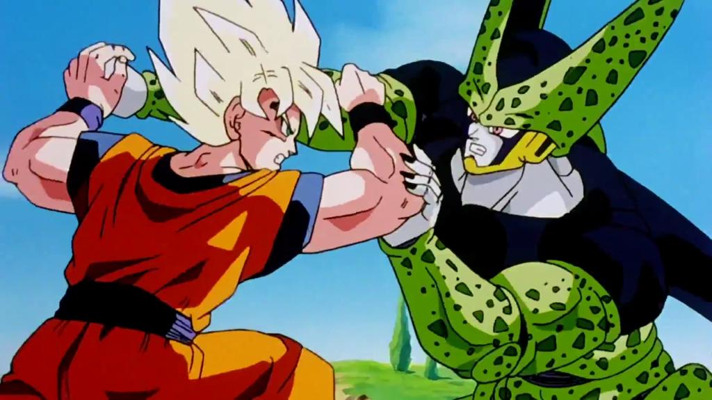 Goku contro Perfect Cell.