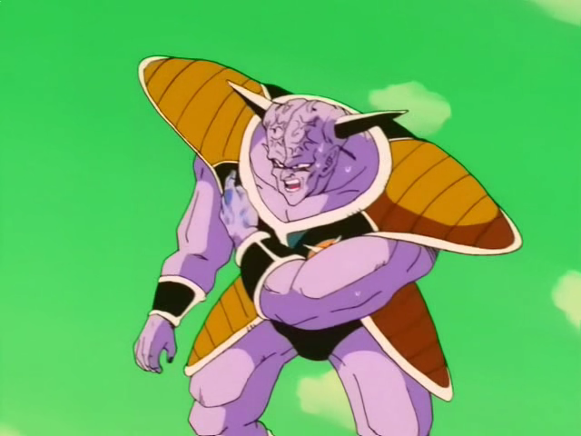 Goku ferito nel corpo di Giniu.