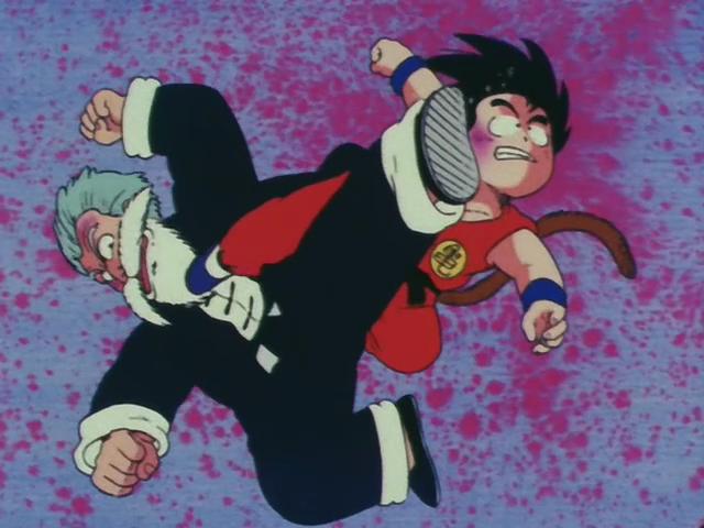 Lo scontro finale tra Goku e Jack Chun.