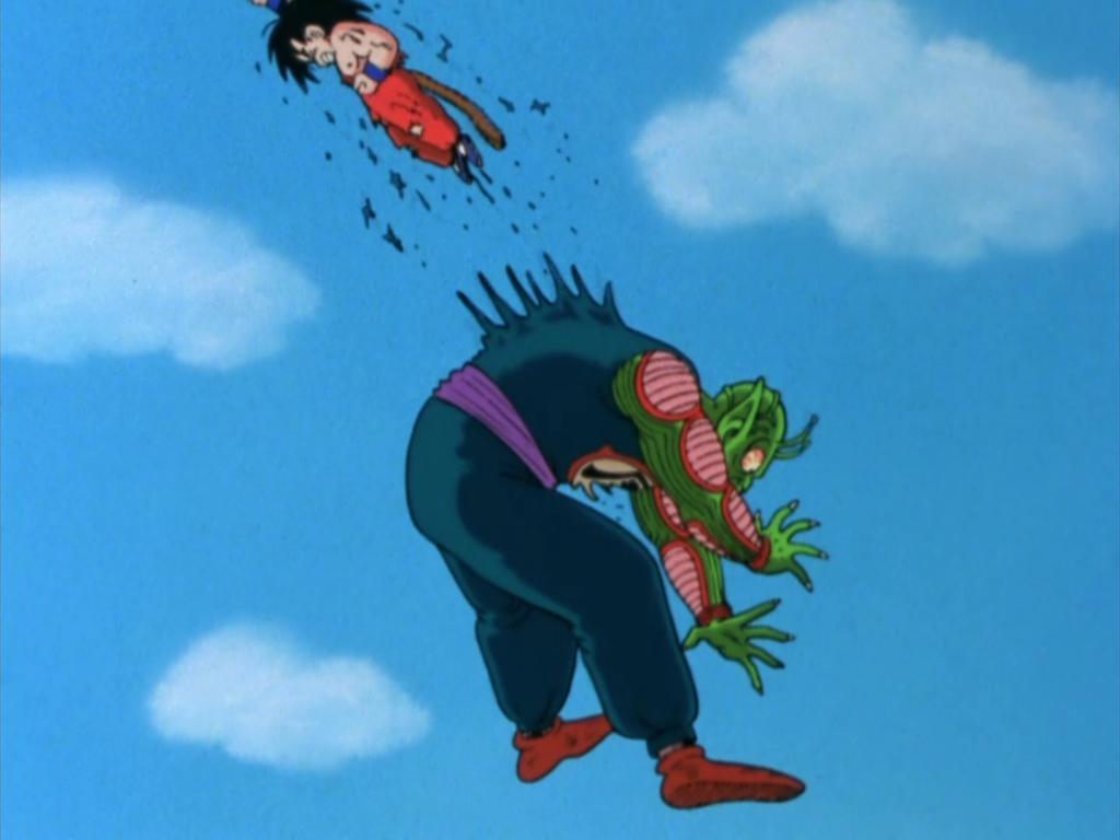 Goku sconfigge il Grande Mago Piccolo.