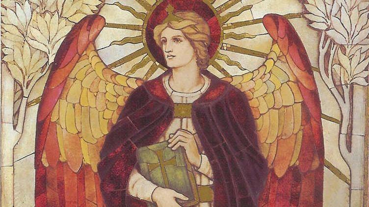 Murale con l'arcangelo Uriele
