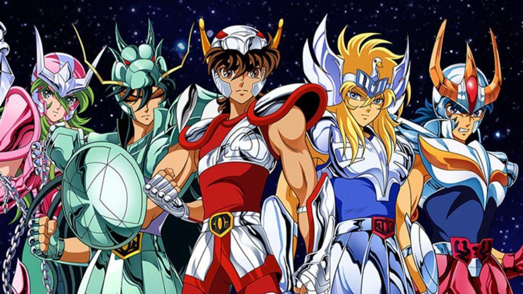 i principali protagonisti della serie in armatura