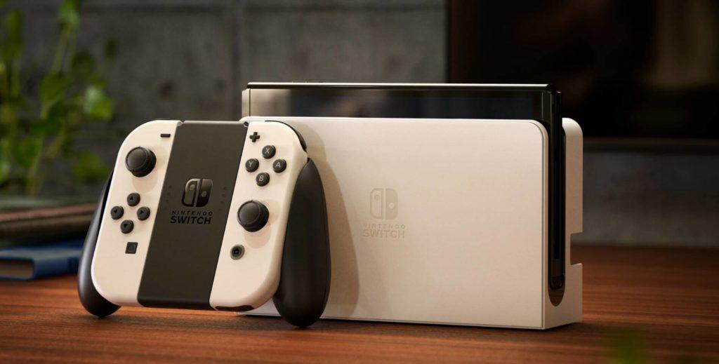 La nuova Nintendo Switch OLED in versione bianca