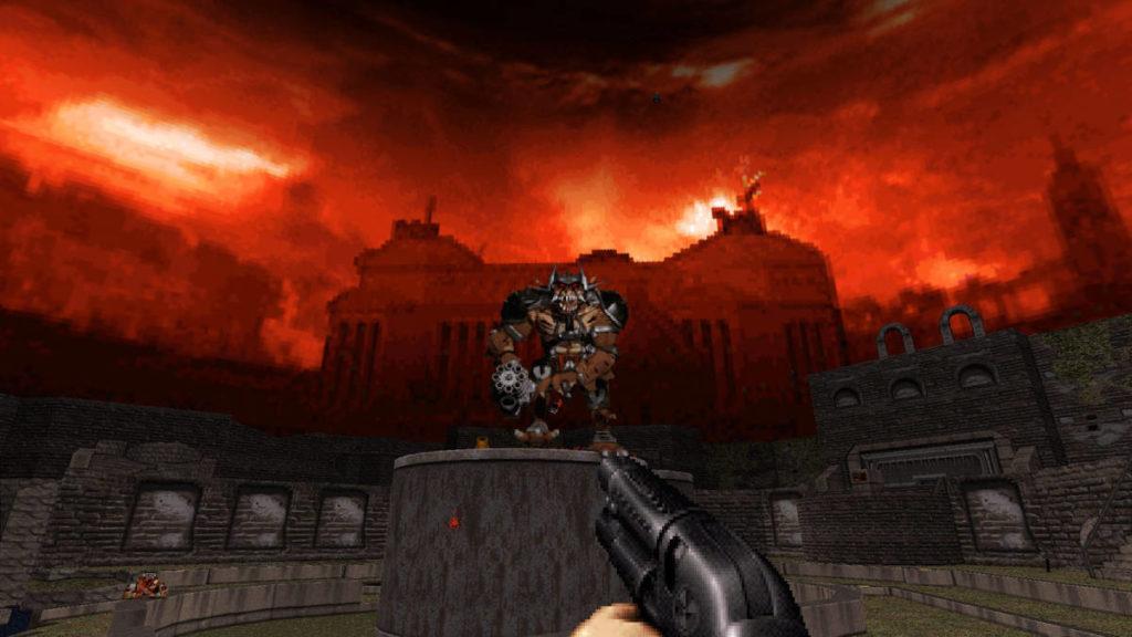 Una schermata di Duke Nukem 3D