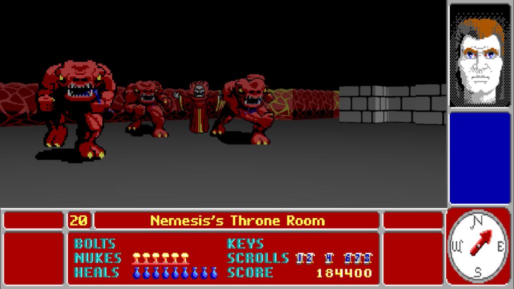 Una schermata di Catacomb 3D
