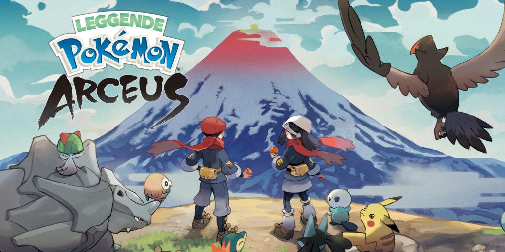 i due allenatori e i loro Pokémon osservano il Monte Corona