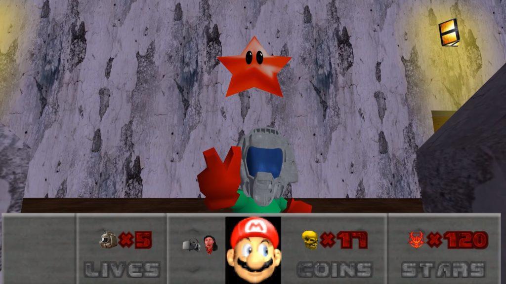 Schermata della mod di Doom per Mario 64
