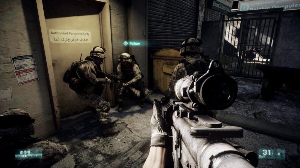 Una schermata di Battlefield 3