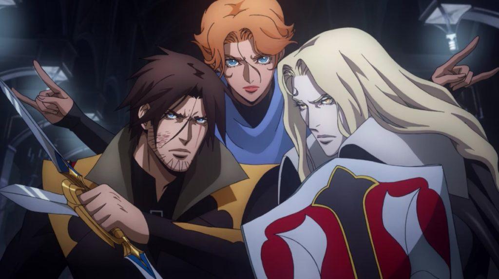 I tre protagonisti di Castlevania