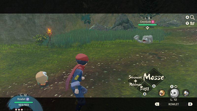una schermata di gioco raffigurante una lotta