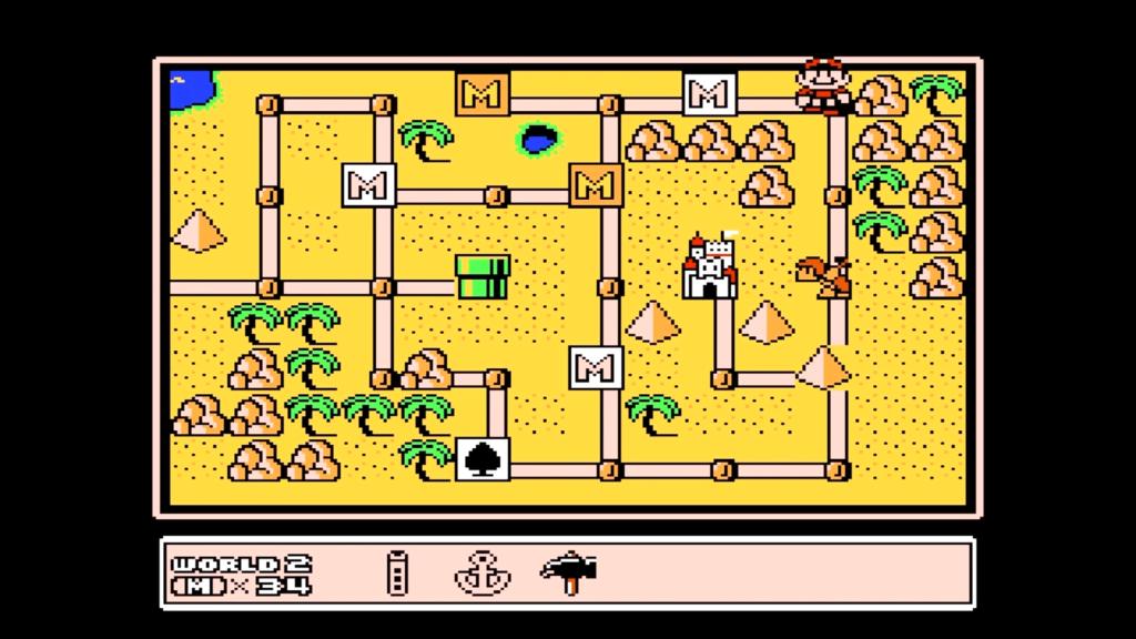 Distruggendo il blocco di macerie col martello, Mario potrà trovare dei Fuoco Bros che fanno guardia ad un fischietto.