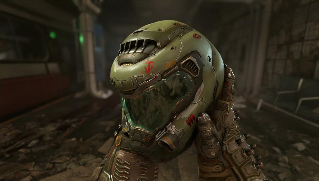 Il casco del Doom Slayer