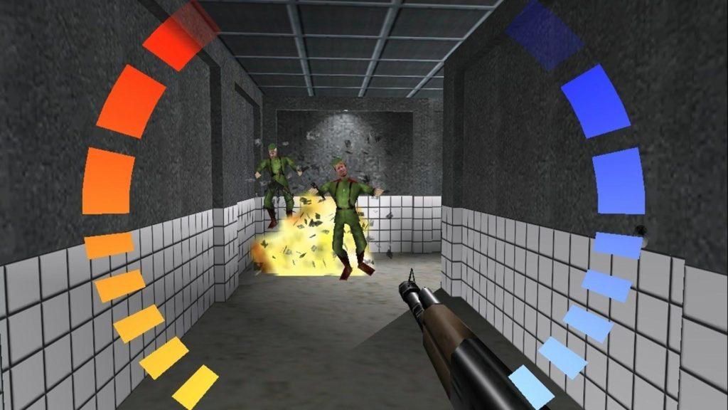 Una schermata di GoldenEye 007