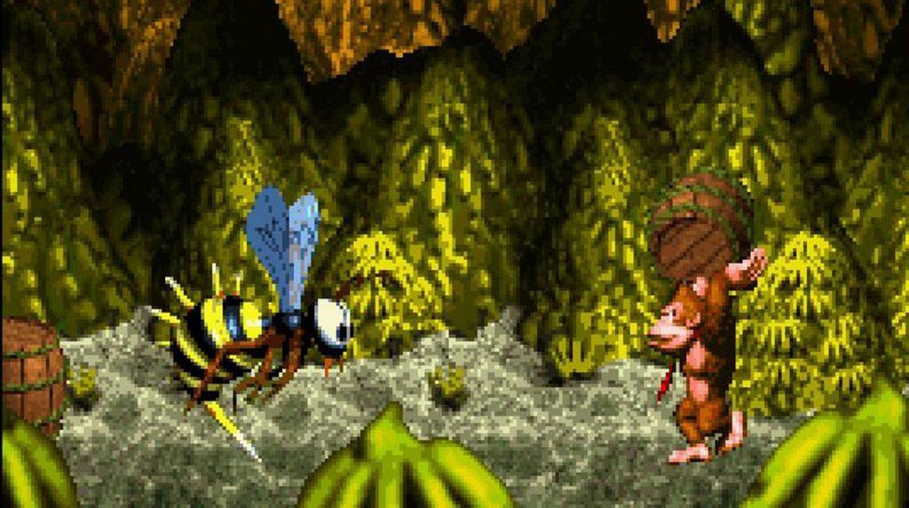 Donkey Kong contro uno dei boss di Donkey Kong Country