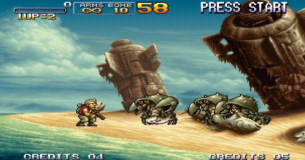 schermata di gioco di metal slug 3