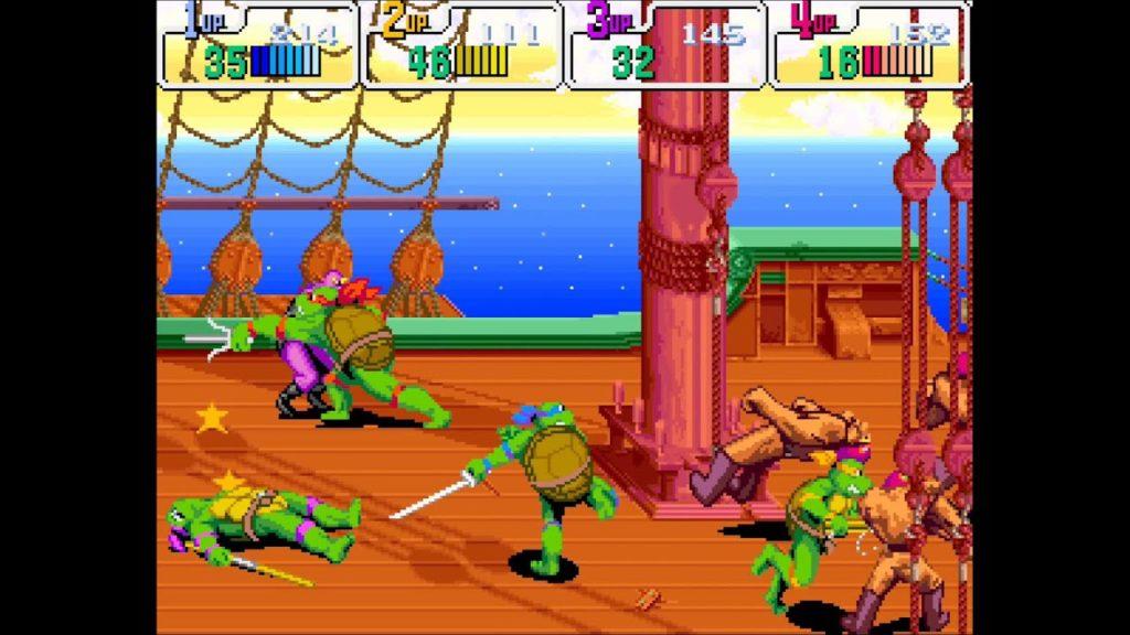 Gameplay di Teenage Mutant Ninja Turtles IV: Turtles in Time