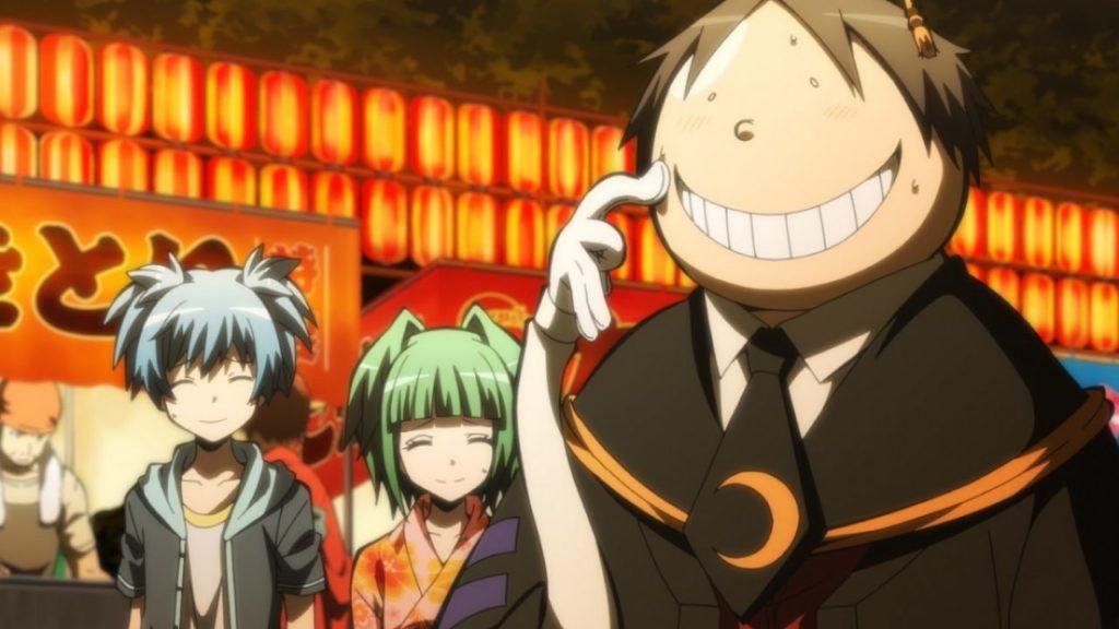Kaede e Nagisa ad una festa con Korosensei