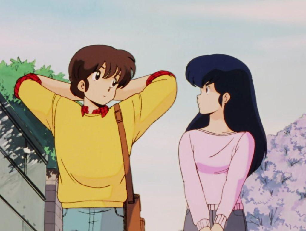 Yusaki Godai e Kyoko Chigusamentre passeggiano
