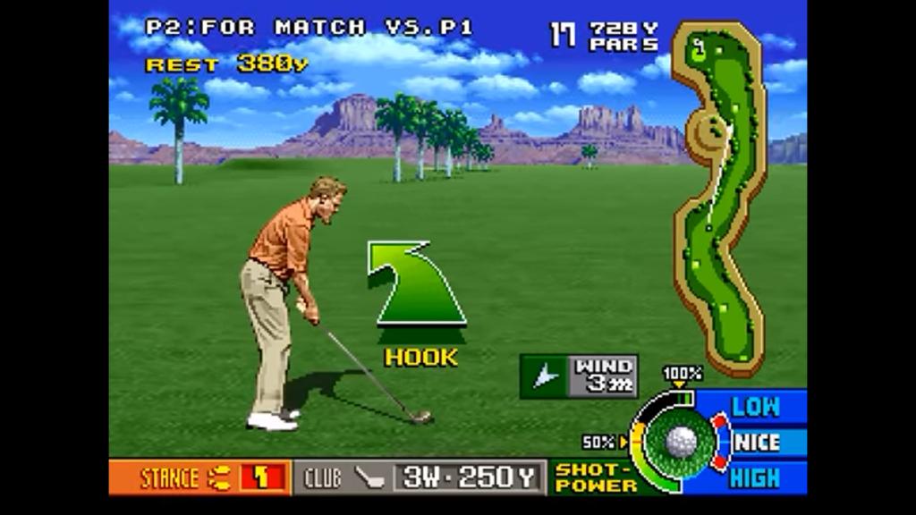 Il giocatore effettua un tiro hook contro vento