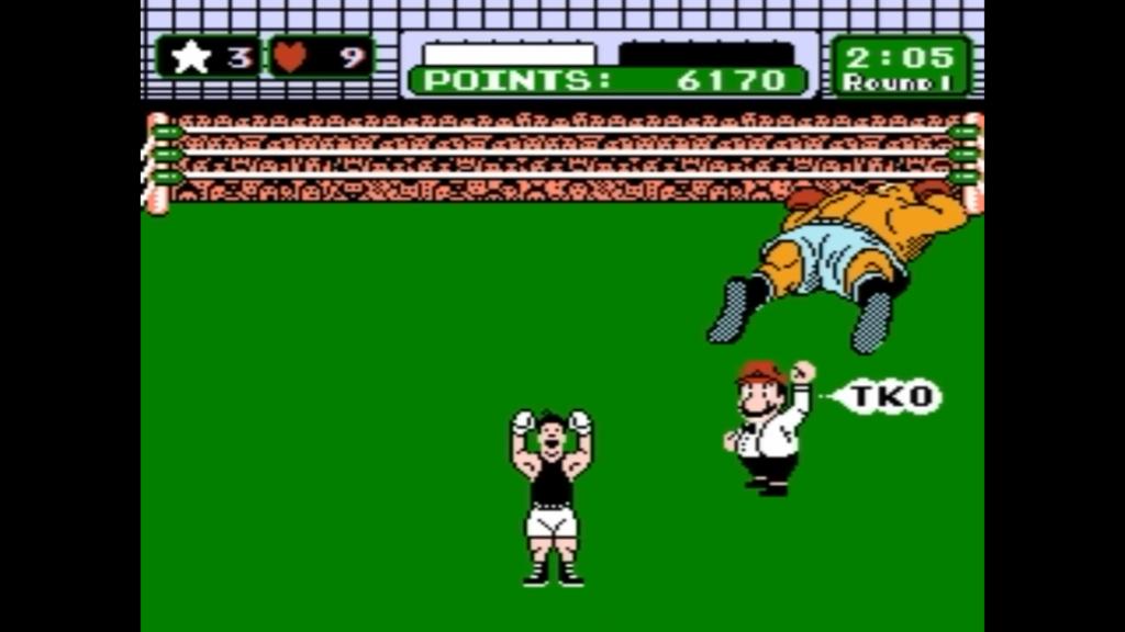 Little Mac mette a terra per Knock Out Tecnico il nemico