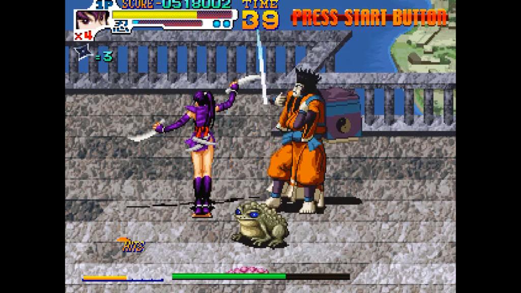 Kurenai effettua una combo, colpendo il boss di fine livello