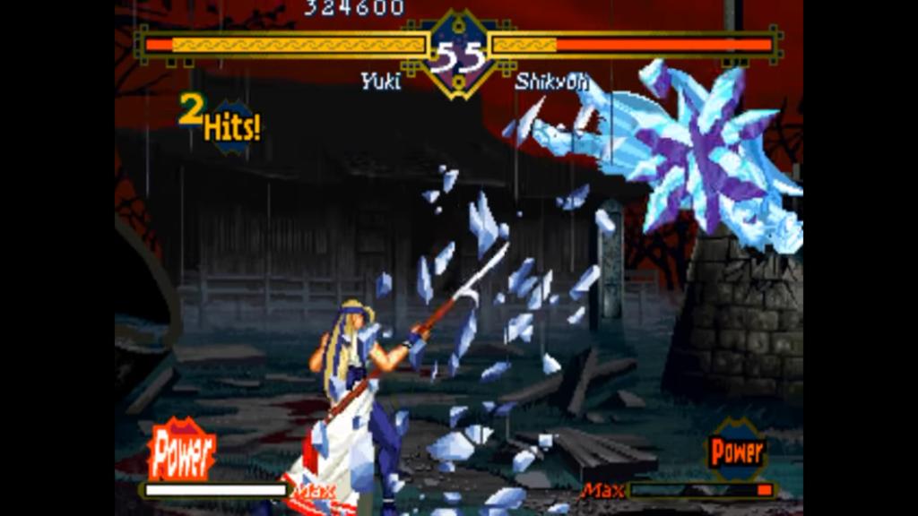 Yuki effettua una combo di ghiaccio contro Shikyon