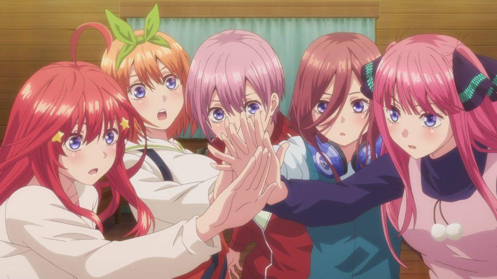 tutte e cinque le gemelle protagoniste della serie