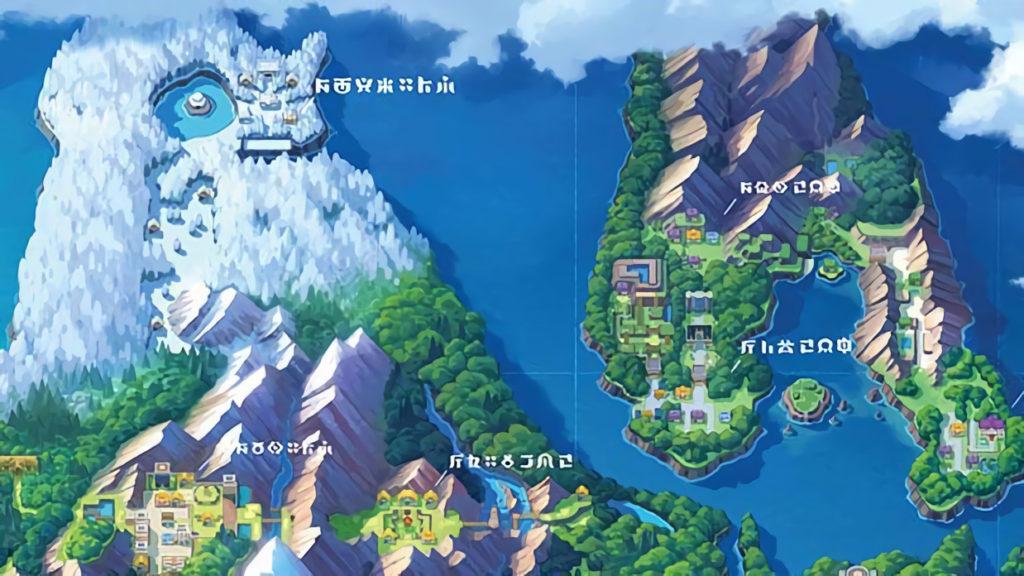 La zona della mappa di Sinnoh dove era presente il Parco Lotta
