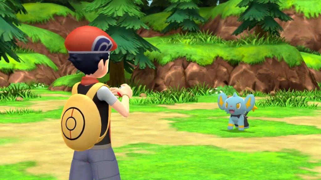L'allenatore alle prese con Shynx, un Pokemon di tipo elettro di quarta generazione