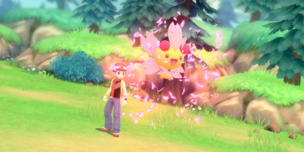 L'allenatore mentre evoca un Pokémon in una lotta